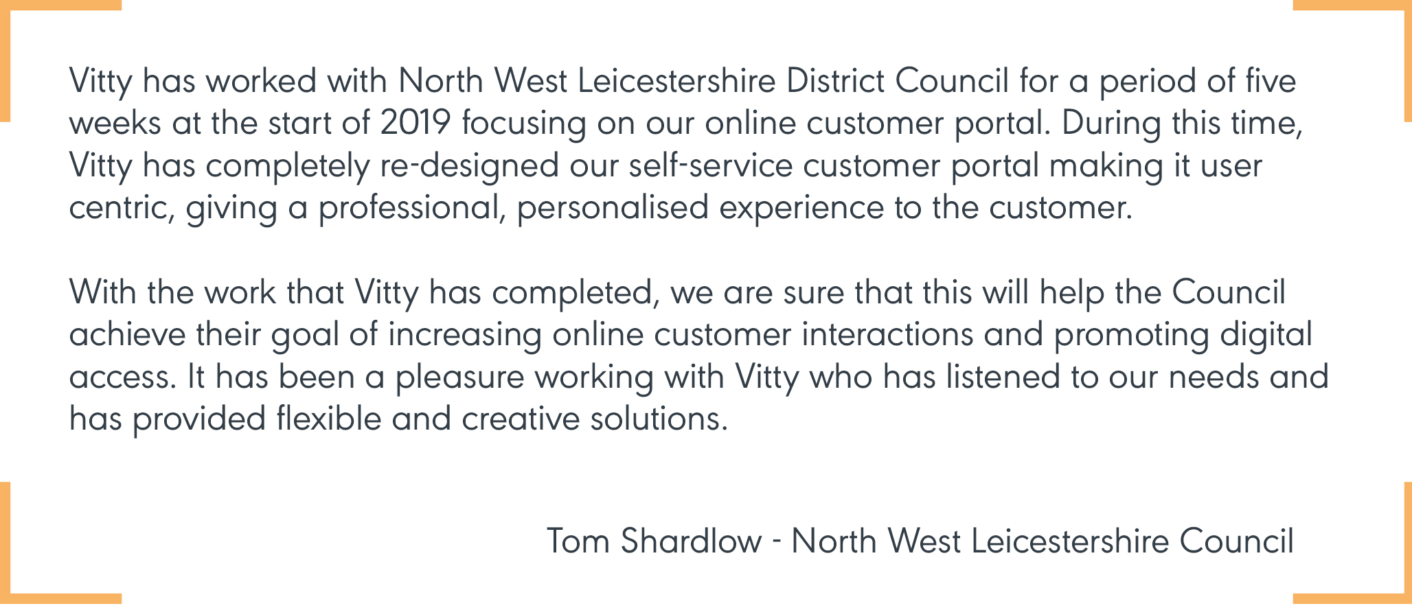 Tom from North West Leicestershire Council